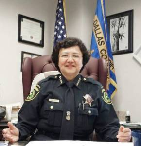 "Dallas Co. Sheriff Lupe Valdez, ""I know at some point I'll cry,"" Courtesy of the Dallas Morning News"